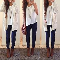 Find and save ideas about fall outfits on Women Outfits. Plaid Fashion, Tomboy Fashion, Girl Fashion, Fashion Outfits, Fashion Clothes, Cardigan Outfits, Casual Outfits, Cream Cardigan Outfit, Outfits Otoño
