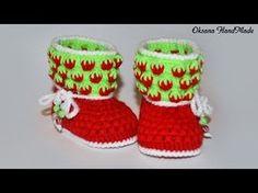 El chal a la moda por los rayos con la descripción Nautilus - Вяжи. Booties Crochet, Crochet Baby Booties, Crochet Slippers, Baby Boots, Baby Girl Shoes, Knit Baby Dress, Baby Cardigan, Newborn Hats, Crochet Kids Hats