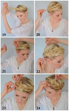 Tuto : Tresse n°3 - La Tresse Couronne - Fashion Tips & Tricks about MakeUp Clothes and Shoes