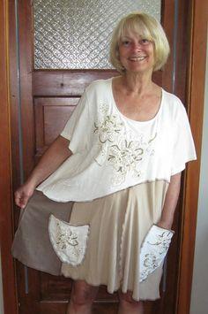 Plus Size 3X Tunic Beaded Dressy by maisestudio on Etsy, $90.00