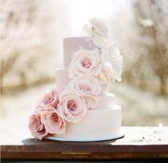 I want to try this cascading ombre roses style on my 3 tiered wedding cake using Afloral's Lavender Pink Bouquet. Cake will be on a pink cake stand, and surrounded by votives
