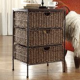 Found it at Wayfair - Farmington 3 Drawer Maize Weave Chest with Wood Top