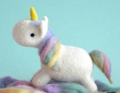Excited to share this item from my shop: US Seller, Free S&H Mini Sweet Little Unicorn DIY Needle Felting Kit, Fiber Art Wool Roving, Instructional Video. Wool Needle Felting, Needle Felted Animals, Felt Animals, Felt Crafts Diy, Felt Diy, Small Thank You Gift, Felt Bunny, Unicorn Crafts, Little Unicorn