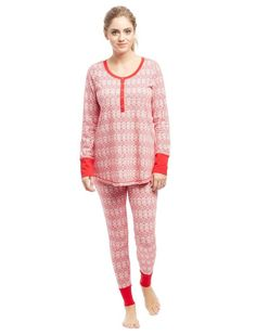henley maternity pajama set maternity pajama set nursing pajama set christmas pjs long - Maternity Christmas Pajamas