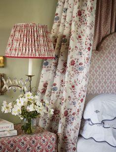 charmajestys lifestyle custom monogram linens, lampshades, Bernard Thorp fabrics beds and more charmajesrt.com