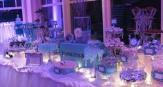 Loving this Tiffany theme dessert table