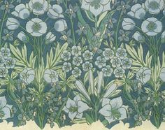 Textile design, Allan Vigers (unnamed)  Manufactured by Liberty & Co. 1874-1914