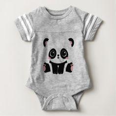 Adorable Panda Baby Bodysuit - baby gifts child new born gift idea diy cyo special unique design