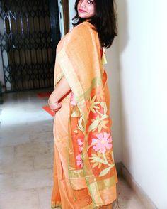 #Saree #Linen Jamdani