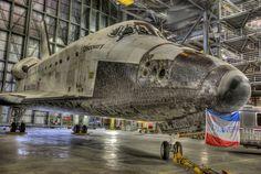 HD shot of Discovery Shuttle.