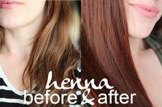 Henna Hair Dye Tutorial DIY for Medium Brown Hair