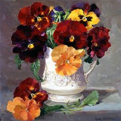 Pansies card by anne cotterill