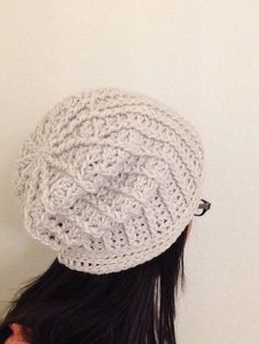 A personal favorite from my Etsy shop https://www.etsy.com/listing/226887447/cable-slouch-hat