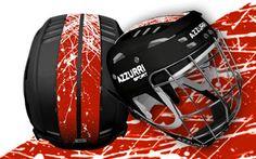 Azzurri Sport® Stripe and Splash GAA Helmet