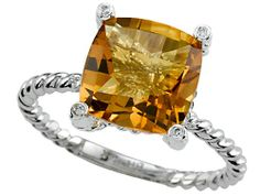 Genuine Citrine Ring by Effy Collection® LIFETIME WARRANTY - Fashion Jewelry