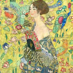Lady with a Fan, Gustave Klimt