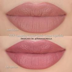 NYX Cosmetics Liquid Suede Cream Lipsticks in Sandstorm & Soft-Spoken