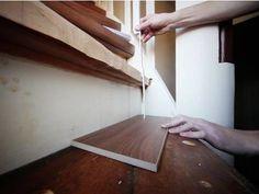 Laminat auf Treppen verlegen, Setzstufe ausmessen, Foto: BHK Holz- und Kunststoff KG H. Kottmann