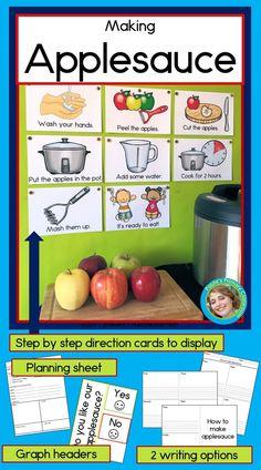 Preschool Cooking Activities, Preschool Lessons, Preschool Learning, Teaching, Preschool Apple Theme, Fall Preschool, Preschool Classroom, Kindergarten Lesson Plans, November Preschool Themes