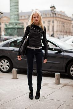 I want to be her - legs, jacket and all