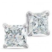 Passion Stone, 14K White Gold Diamond Earrings, 1 1/2 ctw.