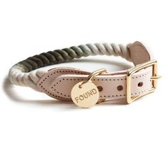Let your pup strut in style. This nautical-inspired collar is handmade with hand-spliced, marine-grade rope with 100% solid brass hardware, and built for durability and comfort. Pairs handsomely with