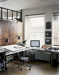 drawing desk workspace