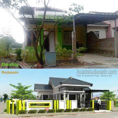 House Fence Design, Compound Wall Design, Exterior Design, Facade, House Plans, Pergola, New Homes, Outdoor Structures, Villa