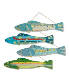 Another great find on #zulily! Wood Fish Wall Art Set #zulilyfinds