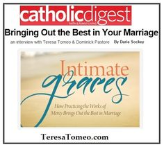 """Bringing out the Best in Your An Interview with & Dominick Pastore on their new book """"Intimate Graces"""""""