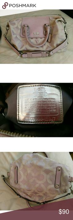 Authentic Coach Satchel w/ dustbag Had some use comes with two of the dog tags. Needs a cleaning. OBO Coach Bags Satchels