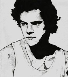 Harry Styles - 30 minute ink sketch
