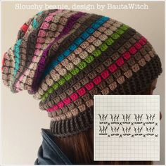 That hat tho... (Slouchy-beanie-by-BautaWitch-diagram)