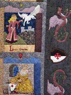 paseo por la IV Exposición de Patchwork en Navidad de Avilés