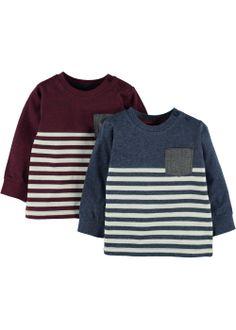 Boys 2 Pack Striped Long Sleeve Tops (3mths-5yrs) - Matalan £6