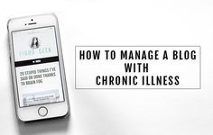 How to manage a blog when you have a chronic illness such as #fibromyalgia