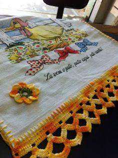 Cleide Kehl Croche: barrados para pano de prato em croche com gráfico