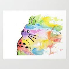 My+Rainbow+Totoro+Art+Print+by+Alisha+Ann+-+$16.64