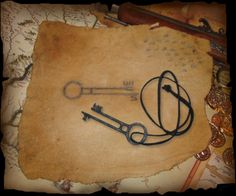 Davy Jones' Key Sketch from Pirates of the Caribbean