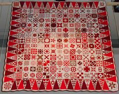 Dear Jane Quilt (Red and White) Nathalie Pierre, France