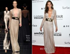 Alessandra Ambrosio In Hugo Boss – amfAR Inspiration Gala Los Angeles - Red Carpet Fashion Awards