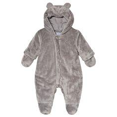 26da49b66ce Absorba Faux Fur Huvad Overall med Öron Grå 21 Baby Shop, Mittens, Faux Fur
