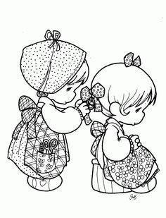 Más dibujos para colorear de Precious Moments