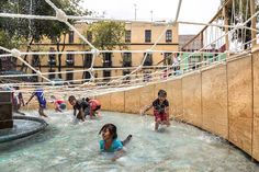 palma studio creates pop-up playground inside a historic fountain in mexico city Playground Design, Mexico City, The Locals, Pop Up, Fountain, Landscape, Park, Studio, Architecture