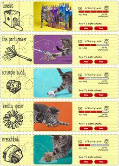 DIY chat : fabriquer des jouets pour son chat simplement et pour presque rien