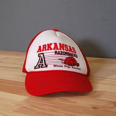 7417ca1b895 Vintage Arkansas Razorbacks Hat   by naturalstatevintage on Etsy