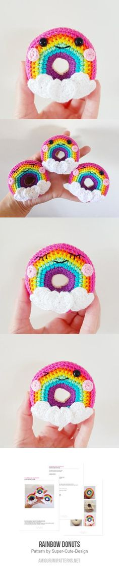 Rainbow Donuts Amigurumi Pattern
