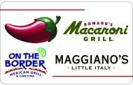 Bid on a $25 gift card good at Chili's, Romano's Macaroni Grill, Maggiano's Little Italy, or On The Border Mexican Grill & Cantina!