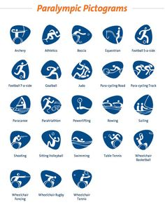 These bouncy pictograms for the upcoming Rio 2016 Olympic games were designed in-house, by the Rio 2016 design team. Olympic Icons, Olympic Sports, Olympic Games, Judo, Rugby, Theme Sport, Track Cycling, Rio Olympics 2016, Rio 2016