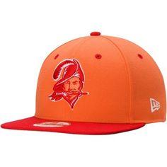 Men s Tampa Bay Buccaneers New Era Orange NFL 2Tone Throwback Original Fit  9FIFTY Adjustable Hat 73d12333f3d